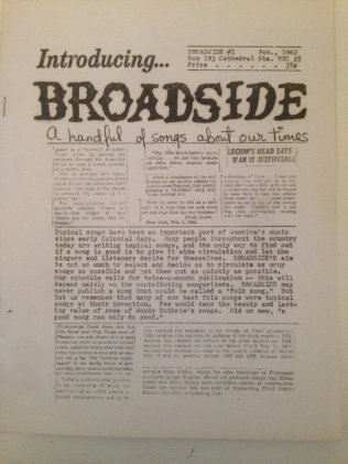 Broadside Issue 1