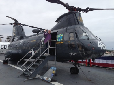 RB boarding helicopter USS Midway