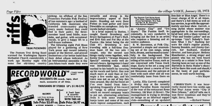 Riffs Jan. 18 1973